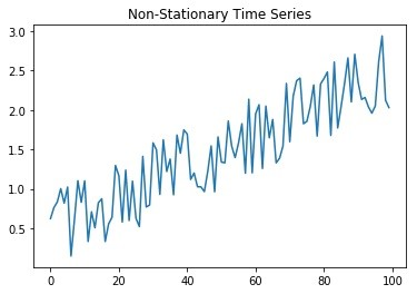 Non Stationary Time Series